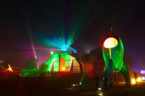 Laser-Show auf dem cccamp11